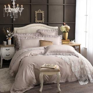 【Cozy inn】300織精梳棉蕾絲四件式被套床包組-特大(3款任選)