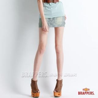 【BRAPPERS】女款 Boy Friend Jeans系列-迷你裙(藍白橫條)
