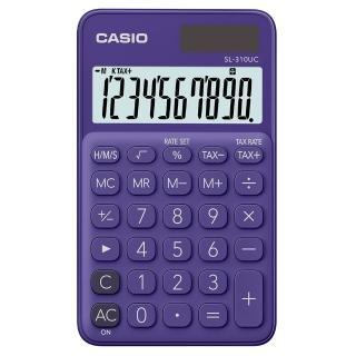 【CASIO 卡西歐】10位元甜美馬卡龍口袋型計算機-葡萄紫(SL-310UC-PL)
