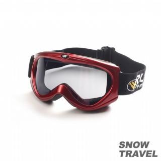 【SNOW TRAVEL】抗UV防霧護鏡 紅色(防BB彈)