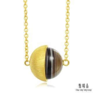【點睛品】g* 系列 波斯瑪瑙圓珠黃金項鍊