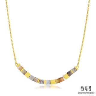 【點睛品】g* 系列 方形幾何瑪瑙黃金項鍊