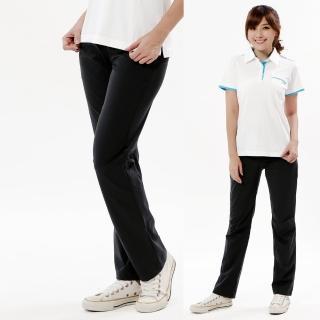 【遊遍天下】女款彈性涼感抗UV長褲GP10001黑色(XS-2L)