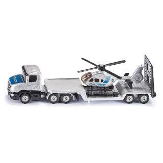 【SIKU】平板拖車-直升機(小汽車)