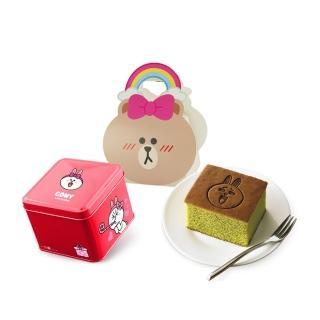 【一之鄉】LINE FRIENDS 繽紛趣-兔兔翠玉茗茶蜂蜜蛋糕禮盒(LINEFRIENDS授權/伴手禮/蜂蜜蛋糕)