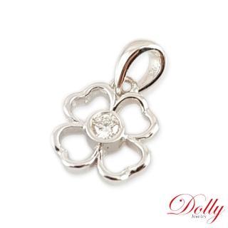 【DOLLY】天然鑽石 0.10克拉 14K金鑽石項鍊(004)
