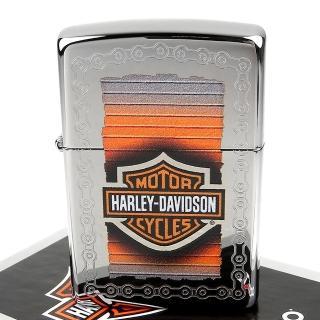 【Zippo】美系~哈雷~Harley-Davidson-鍊條圖案打火機