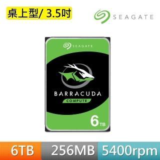 【SEAGATE 希捷】新梭魚Barracuda 6TB SATA 5400轉 3.5吋 桌上型硬碟(ST6000DM003)