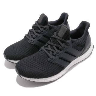【adidas 愛迪達】慢跑鞋 UltraBOOST 4.0 男鞋 愛迪達 襪套 潮流 避震 舒適 男 黑 白(BB6166)