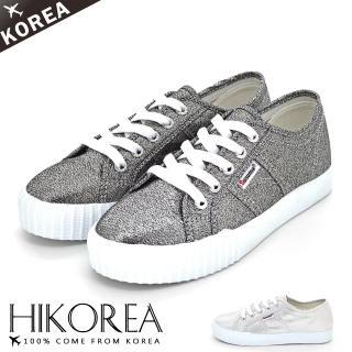 【HIKOREA】正韓空運/正常版型。光感蔥面皮革綁帶休閒鞋(7-2862/現貨)