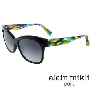 【alain mikli 法式巴黎】捌零復古藝術上眉框造型太陽眼鏡(繽紛藍 AL1326-A01G)