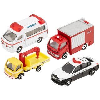 【TOMICA】小汽車組 緊急車輛組(小汽車組 聖誕禮物)