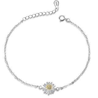 【RJ NewYork】S925銀清新太陽燦爛花朵手鏈(銀色黃金色2色可選)