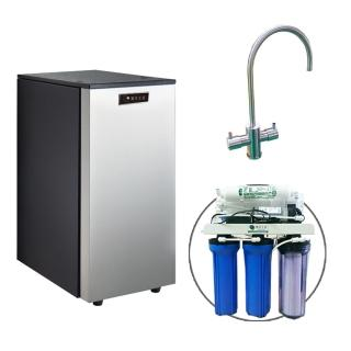 【德克生活】HS-488雙溫廚下冷熱飲水機(贈公規5道式RO逆滲透)
