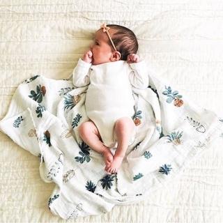 【荷蘭Muslin tree】嬰兒紗布包巾雙層手繪蓋被
