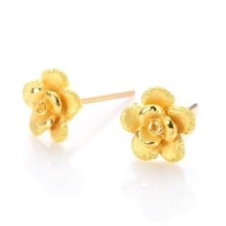 【D.M.】玫瑰黃金耳環