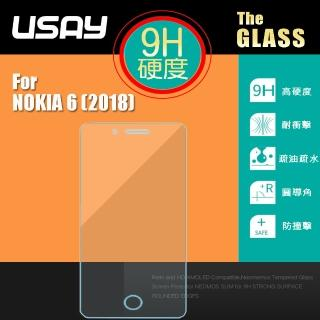 【USAY】NOKIA 6 2018 9H 鋼化玻璃保護貼(兩入特價199 鋼保)