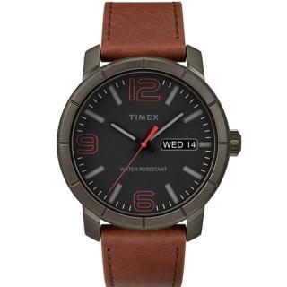 【TIMEX】天美時 風格系列 經典潮流大數字手錶(黑/咖啡色TXTW2R64000)
