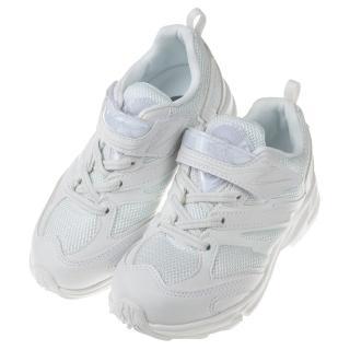 【布布童鞋】Moonstar日本白色3E寬楦兒童機能運動鞋(I8M011M)