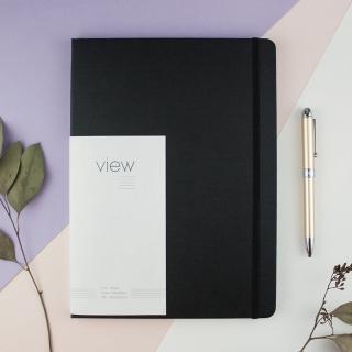 【綠的事務用品】眼色View-16K精裝橫線筆記本-黑