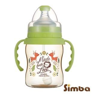 【Simba 小獅王辛巴】桃樂絲PPSU自動把手寬口葫蘆小奶瓶200ml(丘比特/圓舞曲/獨角獸)