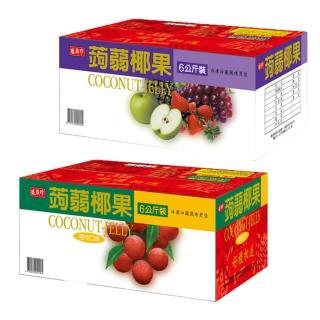 【盛香珍】蒟蒻椰果小果凍量販箱6kg-綜合風味(約220顆)