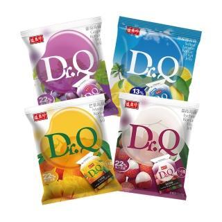 【盛香珍】Dr.Q 蒟蒻果凍265gx4件組(葡萄/荔枝/芒果/檸檬鹽 每包約14入共56入)