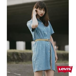 【LEVIS】短袖牛仔洋裝 / 長版襯衫 / 單口袋