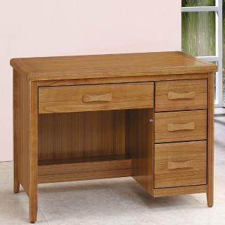 【H&D】愛莉絲柚木3.5尺書桌(柚木色 3.5尺 書桌)