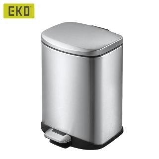 【EKO】迪萊靜音垃圾桶 6L/四色可選(靜音緩降/不鏽鋼垃圾桶/腳踩式垃圾桶)