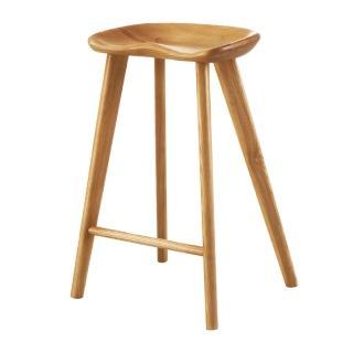 【AS】可欣水曲流實木中吧椅-38x28x63.5cm