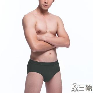 【3GUN三槍牌】時尚經典純棉型男彈力棉織帶三角褲(4件組隨機_M-XL)