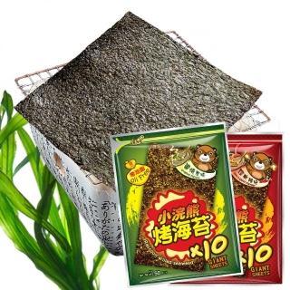 【小浣熊】零油脂烤海苔10片x4包入(原味/辣味)