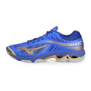 【MIZUNO 美津濃】男_美津濃_WAVE LIGHTNING Z4_排球鞋 藍金(V1GA180051)