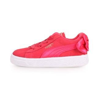 【PUMA】14.5-16.5CM_彪馬_Suede Bow AC Inf_兒童休閒運動鞋蝴蝶結款 紅(36732002)