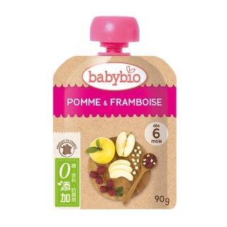 【法國BABYBIO】有機蘋果覆盆莓纖果泥(90g)
