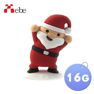 【Xebe集比】聖誕老公公造型隨身碟16G(造型USB送禮學生必備)