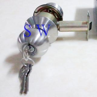 【廣安牌 C9600型 喇叭鎖 (附三支鎖匙) 85mm】不銹鋼磨砂銀色(客廳鎖 辦公室鎖 臥室門用)