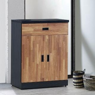 【H&D】雙色集層木2.7尺鞋櫃(雙色集層木 2.7尺 鞋櫃)