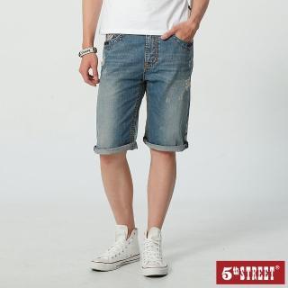 【5th STREET】男街霸休閒短褲-中古藍