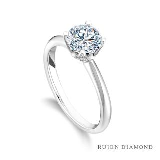 【RUIEN DIAMOND 瑞恩鑽石】GIA 1克拉 D VS2 3EX(18K白金 鑽石戒指)