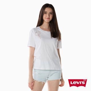 【LEVIS】T恤 女裝 / 短袖純棉TEE / 白色