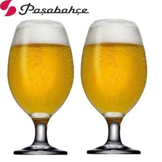 【Pasabahce】高腳啤酒杯水杯400cc(2入組)