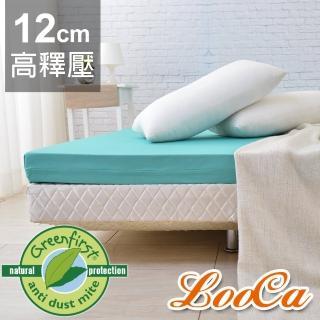 【送野餐袋】頂級12cm防蚊+防蹣+超透氣記憶床墊-LooCa(雙人5尺-Greenfirst系列)