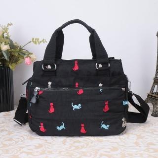 【VIVI SECRET】淘氣小貓多格層手提斜背二用包(共2色)