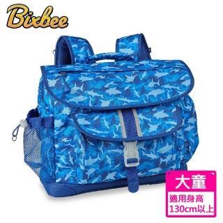 【美國Bixbee】彩印系列藍海群鯊大童輕量舒壓背書包