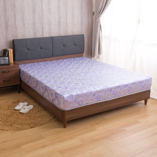 【AS】璐易絲透氣升級款-歐式緹花抗菌透氣強化紓壓單人3尺彈簧床墊/