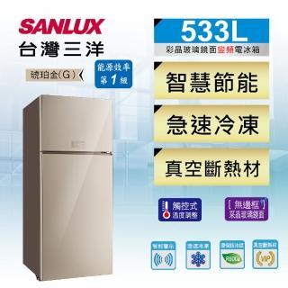 【SANLUX 台灣三洋】533公升一級能效變頻雙門冰箱(SR-C533BVG)