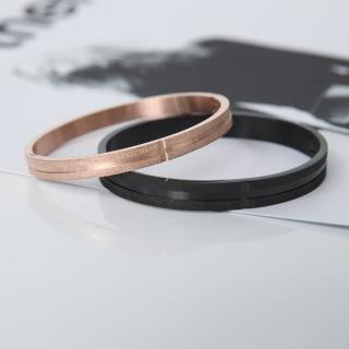 【玖飾時尚】磨砂感線條鋼製手環(手環)