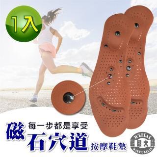 【輕鬆大師】8D磁氣按摩調整型鞋墊(1雙)